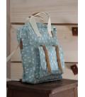Mini mochila Gotitas azul