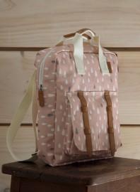 Mini mochila gotitas rosa