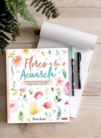 Libro Flores a la acuarela