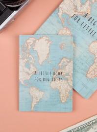Cuaderno de bolsillo mapamundi