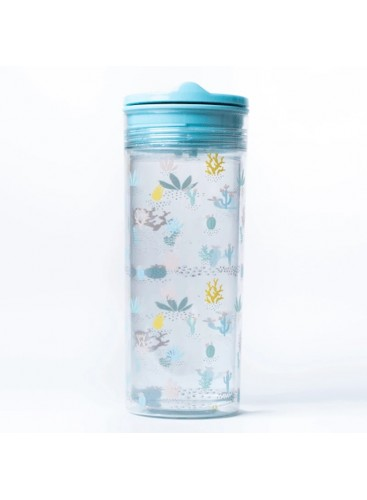Botella Slide Cup Crystal Azul