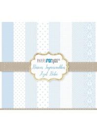 Colección 25 papeles scrap Azul Bebé
