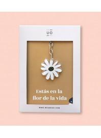 """Llavero """"Estás en la flor de la vida"""""""