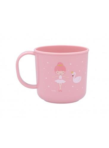 Taza infantil Bailarina rosa Tutete