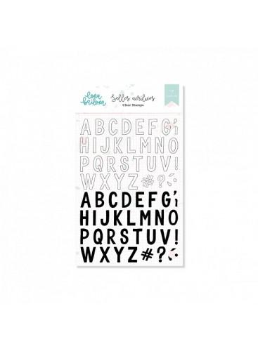Set de sellos acrílicos ABC Mix