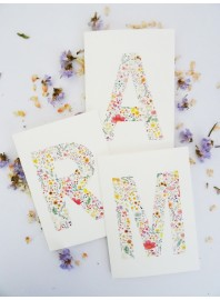 Lámina A4 Letra Flores