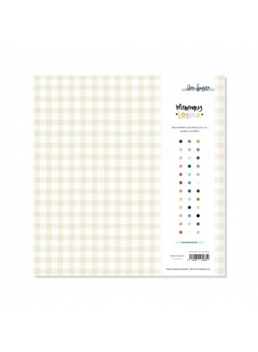Block 36 papeles 30,5x30,5cm Vichy Loquer LoraBailora