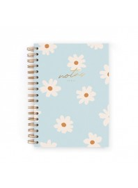 Cuaderno Charuca Flores Azul A5