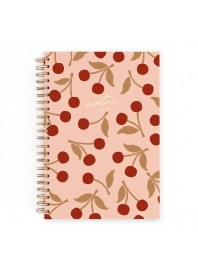 Cuaderno Charuca Cerezas Rosa Azul A4