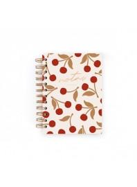 Cuaderno Charuca Cerezas Blanco Mini