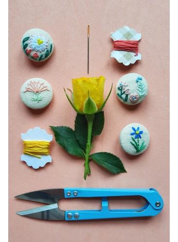 Taller de Minibordado: Botones de flores