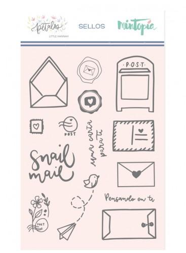Set de sellos acrílicos Snail Mail Pétalos