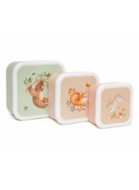 Set de 3 cajas de almuerzo Bear and Friends Tutete
